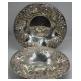 STERLING. Pair of Matched S. Kirk & Son Co. Bowls.