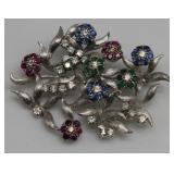 JEWELRY. 18kt Gold, Sapphire, Emerald, Ruby and