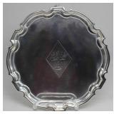 SILVER. Early 18th C English Silver Salver.