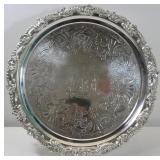 SILVER. George III English Silver Salver.