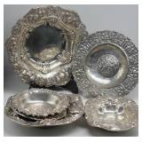 SILVER. Assorted Grouping of Silver Bowls.
