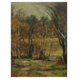 LaVALLEY, Jonas. Oil on Board. Landscape.