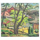 OH, ChiHo. Oil on Canvas. Village Landscape.
