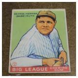 Group of 1933 Goudey Baseball Cards Inc. Babe Ruth