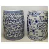 Lot Of 2 Vintage Chinese Porcelain Garden Seats .