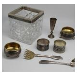 SILVER. Assorted Russian Silver Table Articles.