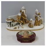 SEVRES. Porcelain Grouping Together with a