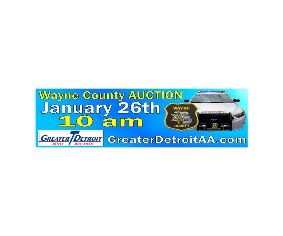 Greater Detroit Auto Auction >> Postponed Wayne County Vehicle Equipment Auction