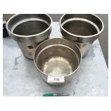 (3) LARGE SOUP PANS