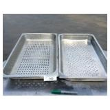 (2) FULL SIZE PERFORATED STEAM PANS