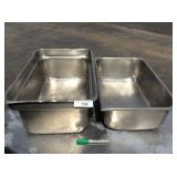 (2) FULL SIZE FOOD PANS