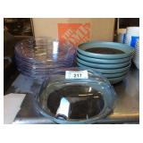 (7) PLATE WARMERS W/ COVER