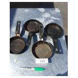 (4) SMALL FRYING PANS
