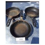 (3) MEDIUM FRYING PANS