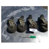 SET OF 4 WORK TABLE CASTERS