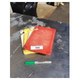LOT OF COLOR CODED CUTTING BOARDS