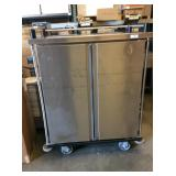 SS DOUBLE ENCLOSED PAN RACK ON WHEELS
