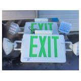 (2) EXIT SIGNS / EMERGENCY LIGHTS