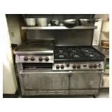 """WOLF 6 BURNER RANGE WITH 24"""" GRIDDLE AND DOUBLE"""