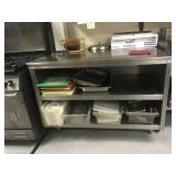 """49"""" L X 33"""" W STAINLESS WORK TABLE W/ UNDER"""