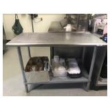 """48""""L X 24"""" W STAINLESS PREP TABLE W/ UNDER"""