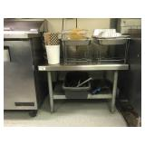 """36"""" L X 24"""" W X 24"""" T STAINLESS EQUIPMENT TABLE"""