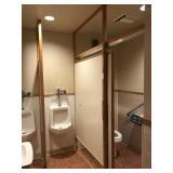 BATHROOM STALL SETUP NOT INCLUDING TOILETS,