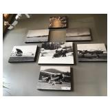 CANVAS PICTURES IDAHO AVIATION HISTORY SET OF 7