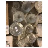 LARGE LOT MATCHING GLASS DISHWARE
