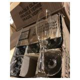 3 CASES OF CHAMPAGNE FLUTES
