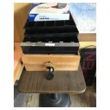 LOT OF (6) cash drawers & table