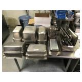 LARGE LOT OF SS HOTEL PANS
