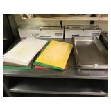 (7) CUTTING BOARDS & (5) SS HOTEL PANS