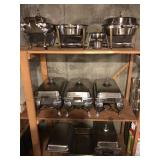 LOT OF VINTAGE CHAFING DISHES