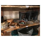 SHELF OF MEXICAN STYL SERVING DISHES
