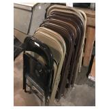 STACK OF METAL FOLDING CHAIRS