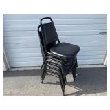 Metal Chairs  W/ Padded Seat And Back