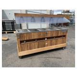 Buffet Hot Bar 5 Tray W/ Sneeze Guard