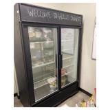 True 2 Door Glass Refrigerator