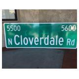 Cloverdale Road Street Sign