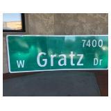 W. Gratz Dr Street Sign