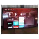 "Tcl 55"" Roku Flat Screen Smart T. V"