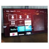 "Tcl Roku 65"" Flat Screen Smart T. V W/ Wall Mount"