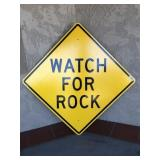 """"""" Watch For Rocks"""" Road Sign"""