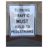 Metal Turning Traffic Street Sign
