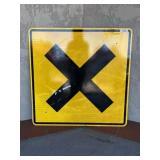 Railroad Crossing Street Sign