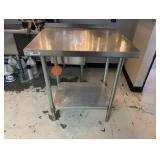 """30"""" L X 24 W X 36"""" T Stainless Steel Work Table"""