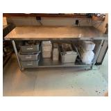 """72"""" L X 30 W X 34"""" T Stainless Steel Work Table"""