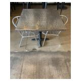 Dining Room Table With Chrome Colored Chairs