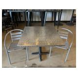 Dining Room Table With Gray Colored Chairs